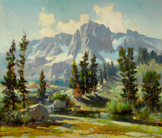 Jack Wilkinson Smith (American, 1873-1949) Sierra Landscape 28 x 34in