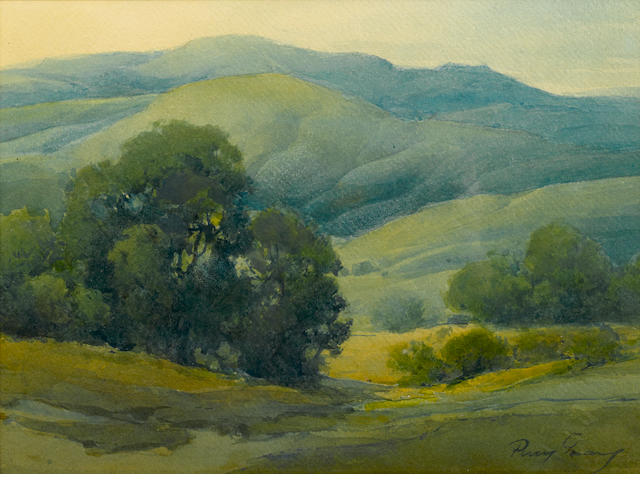 Percy Gray (1869-1952) Green Valley 10 x 14in