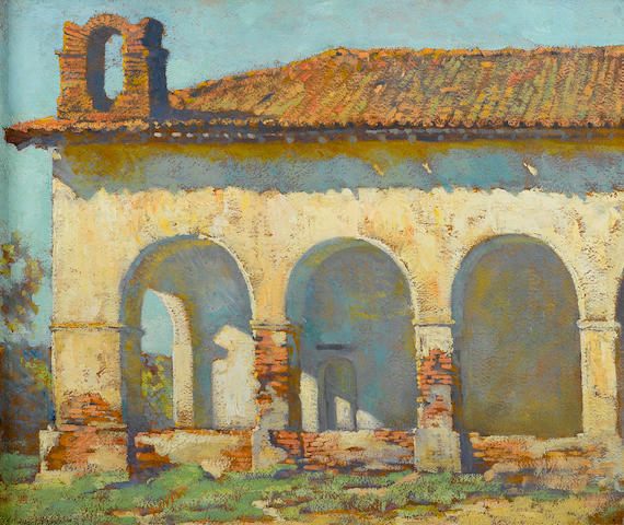 Alson Skinner Clark (1876-1949) Mission San Fernando, 1919 15 x 17 3/4in