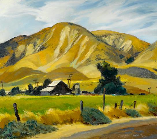 Emil Jean Kosa, Jr. (American, 1903-1968) Farm Scene 28 x 32in