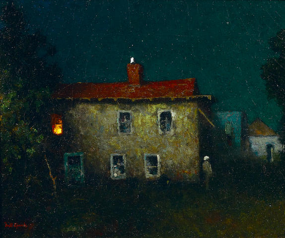 Will Sparks (American, 1862-1937) The Stevenson house 12 1/2 x 15 1/2in