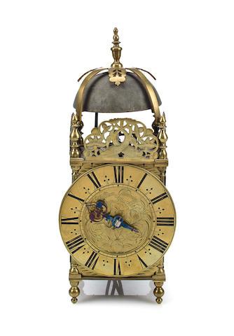 Brass lantern clock, Goodwin, late 17th century