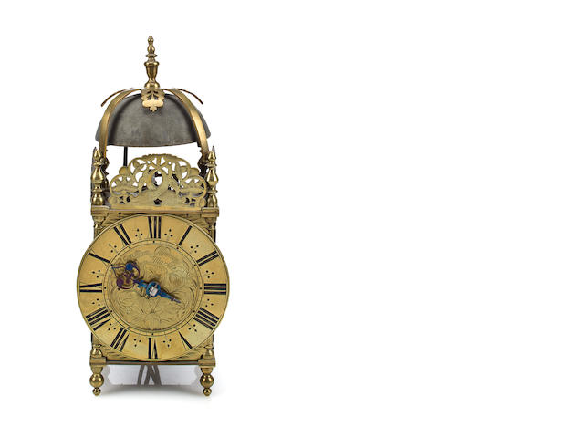 Brass lantern clock, Goodwin, late 17th century