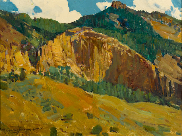 Frank Tenney Johnson, Mountains and Cliffs