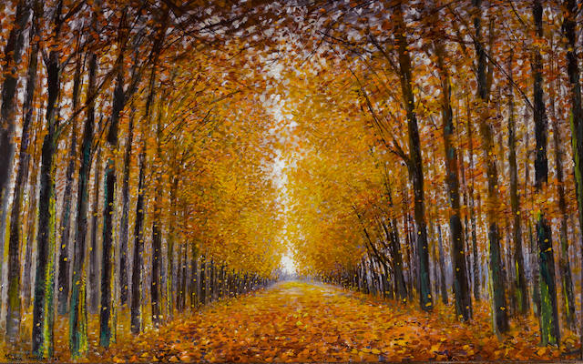 Michele Cascella (Italian, 1892-1989) Autumn 32 1/2 x 52 1/2in (82.5 x 133.3cm)