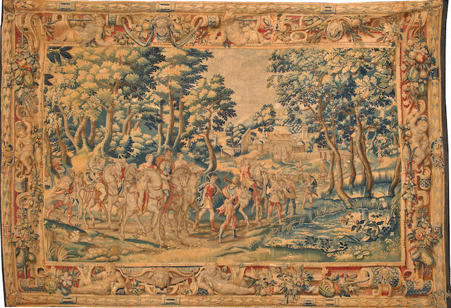 A Flemish Renaissance tapestry by Joost Van Herzeele (active circa 1575-1590) Antwerp, fourth quarter 16th century