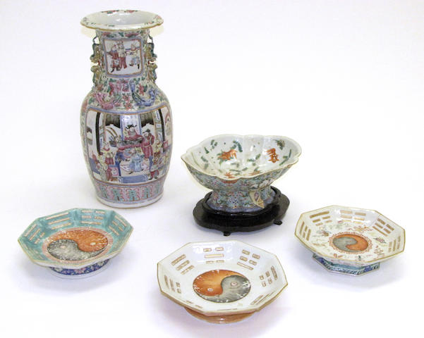 A group of Chinese famille rose porcelains