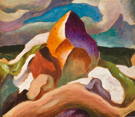 Thomas Hart Benton (American, 1889-1975) Waves, 1920 7 1/2 x 8 3/4in, image