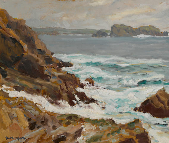 Paul Dougherty (American, 1877-1947) Rocky coast 15 x 18in