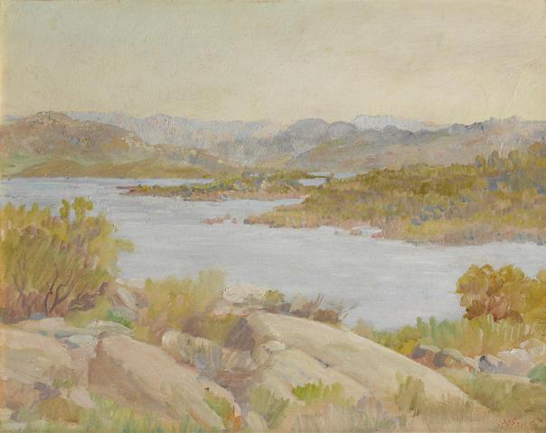Charles A. Fries (American, 1854-1940) Morena Lake 16 x 20in