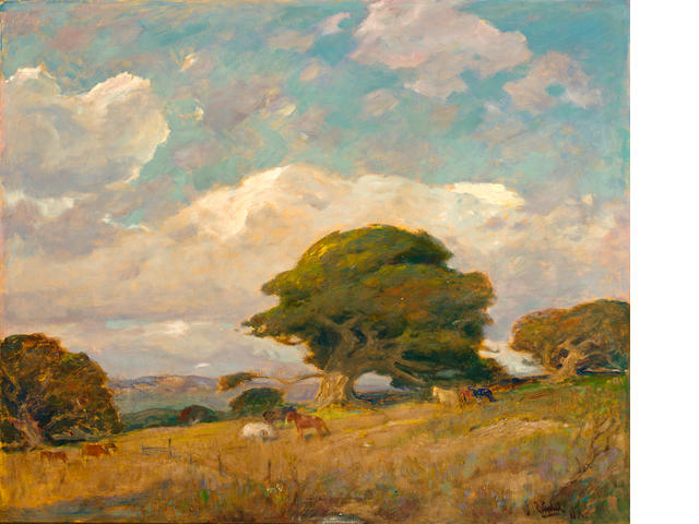 William Frederick Ritschel (American, 1864-1949) Carmel Valley 30 1/4 x 36in