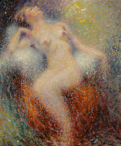 William Clapp (American, 1879-1954) Seated nude 24 x 20in