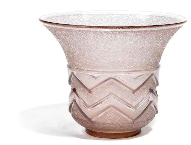 A Daum Nancy glass vase, circa 1925