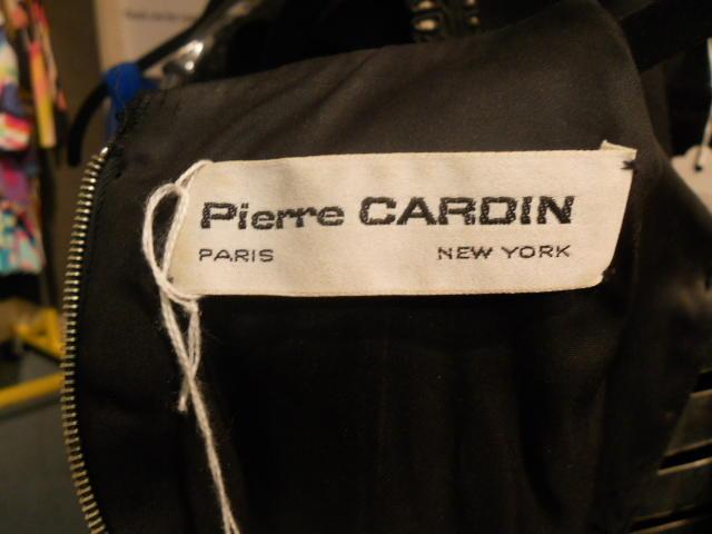 A Pierre Cardin black dress