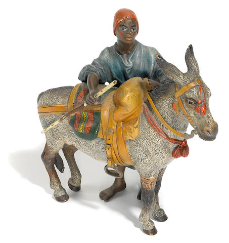 Blackamoor Boy herding Donkey