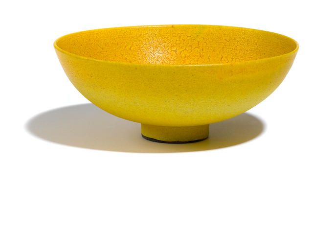 A Lovera yellow glazed bowl