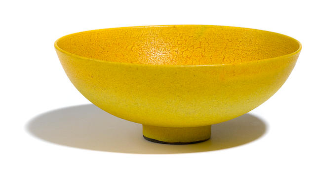 A Lovera yellow glazed bowl