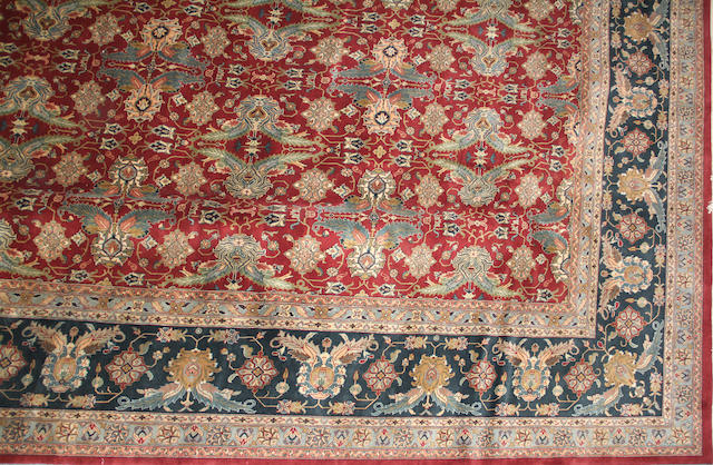An Indian carpet size approximately 12ft. x18ft.