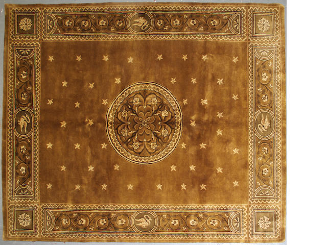 An Aubusson design carpet size approximately 8ft. x 9ft. 10in.
