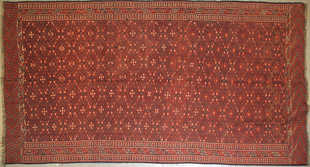 A Soumak carpet size approximately 5ft. 8in. x 10ft. 8in.