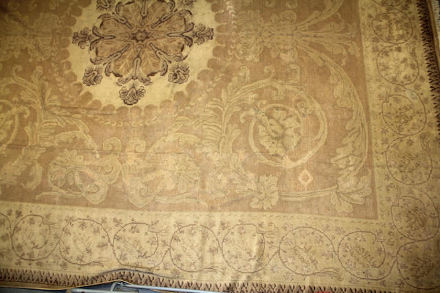 A Savonnerie style European carpet size approximately  16ft. 5in. x 19ft. 2in.