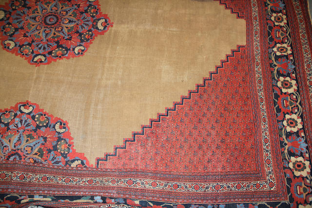 A Doroksh carpet size approximately 19ft. x 23ft. 2in.