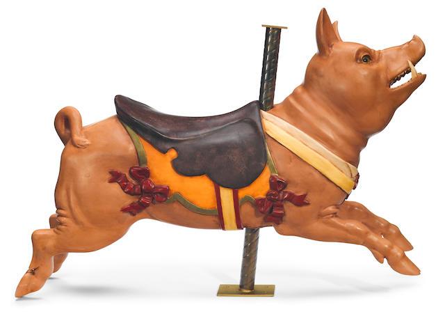 A Gustav Dentzel pig