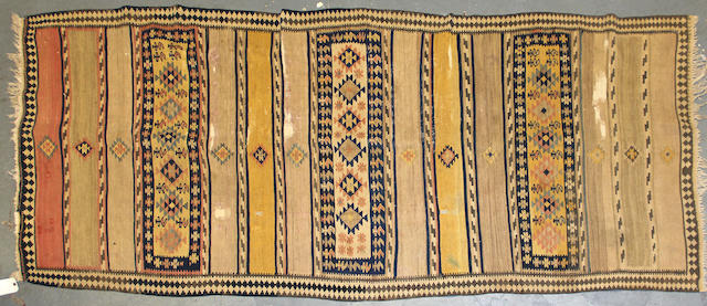 A Caucasian Kilim size approximately 4ft. 1in. x 9ft. 7in.