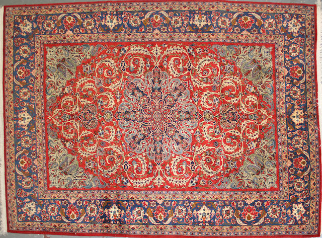 A Najafabad carpet  size approximately 8ft. 5in. x 11ft. 4in.