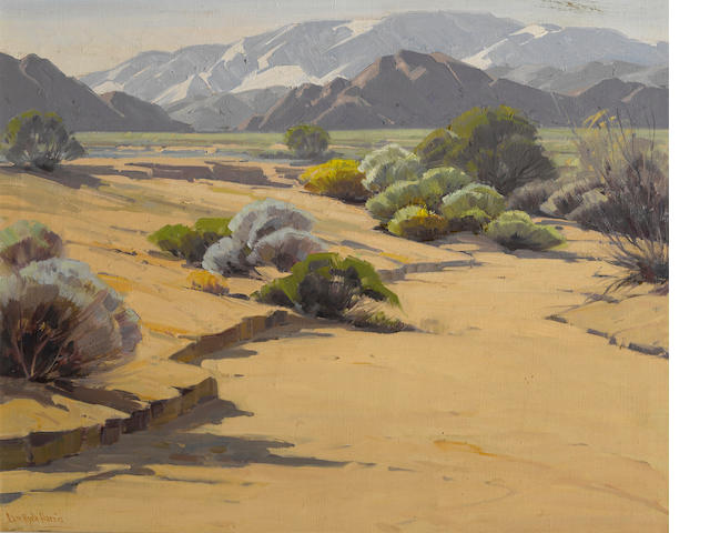 Sam Hyde Harris (American, 1889-1977) Desert in February 24 x 30in