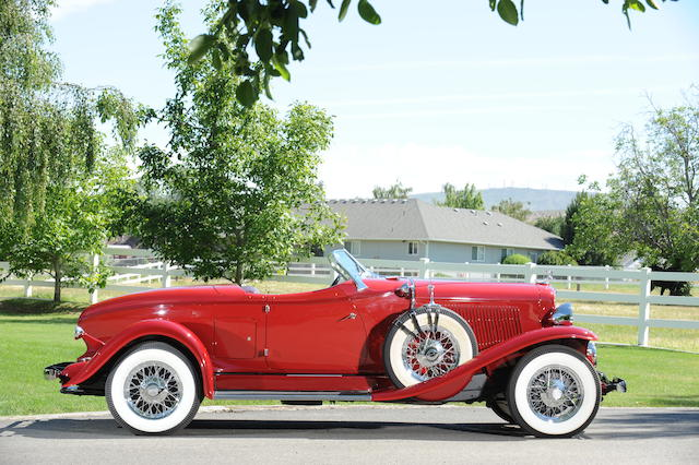 1931 Auburn 8-98 Boattail Speedster  Engine no. GU35732