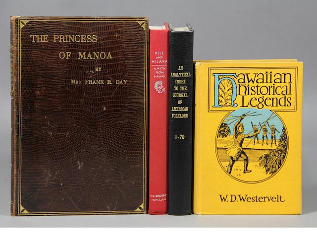 [HAWAIIAN FOLKLORE & MYTHOLOGY.] Approx. 50 vols.