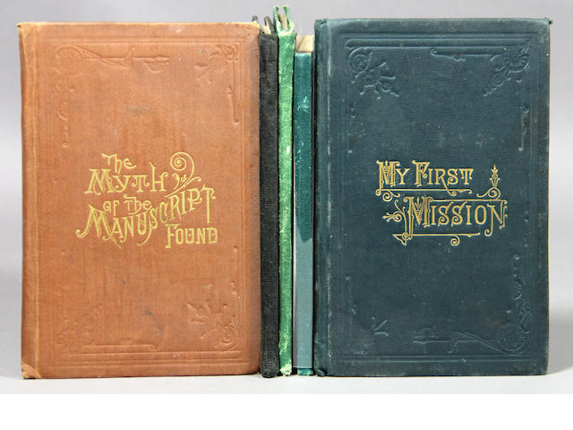[MORMON MISSIONARY.] 7 items.