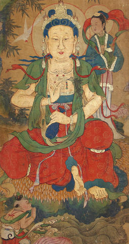 A group of eight Chinese Buddhist paintings