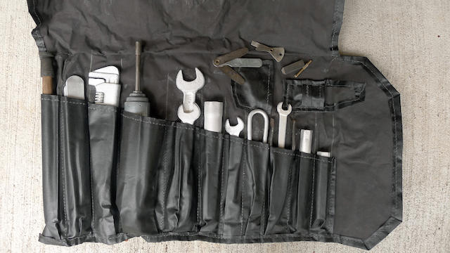 An Austin Healey 100, 100M tool roll,