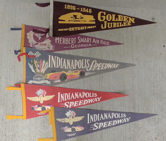 Three Indianapolis 500 Pennants c. 60s,