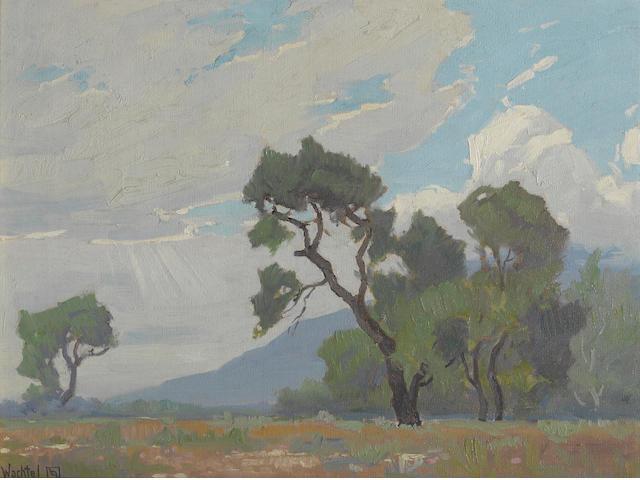 Elmer Wachtel (American, 1864-1929) Grandeur of the clouds 13 3/4 x 18 1/4