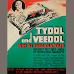 A reprint Tydol and Veedol Indianapolis 1932 poster,