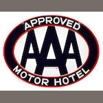 An AAA Approved Motor Hotel sign,