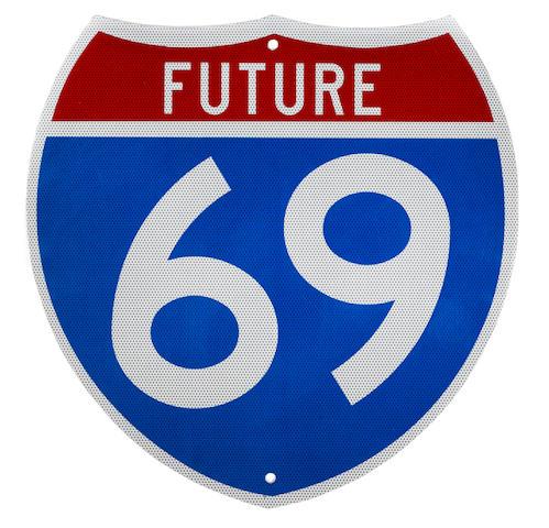 A Georgia future interstate 69 sign,