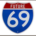 A Georgia future interstate 69 sign,