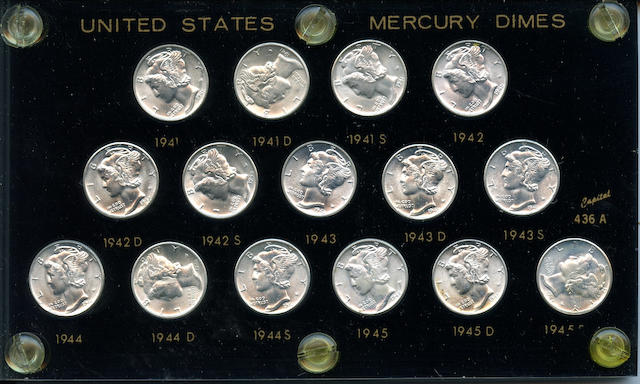 "1941-1945-PDS Mercury Dime ""Short Set"""