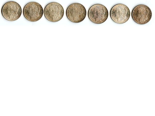 1881-S $1, 1889 $1 (2), 1902 $1 (4)