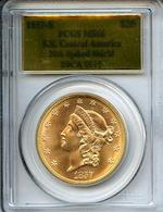 1857-S $20 MS66 PCGS SSCA-0511
