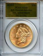 1857-S $20 MS66 PCGS
