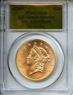 1857-S $20 MS66 PCGS SSCA-0508
