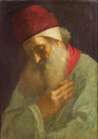 G. Owens, Meditation (portrait of a man with a beard), o/b