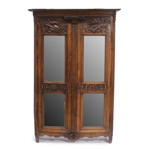 A Louis XVI Provincial oak armoire