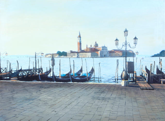 Christopher S. Gerlach (American, born 1952) Morning, Venice, 1986 22 x 30in