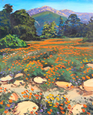 Christopher S. Gerlach (American, born 1952) A Field of Poppies, 1989 20 x 16in